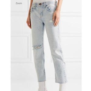 Current/Elliott the crossover straight leg jeans